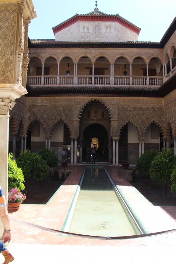 The Royal Alcazar palace and gardens, Seville, Spain
