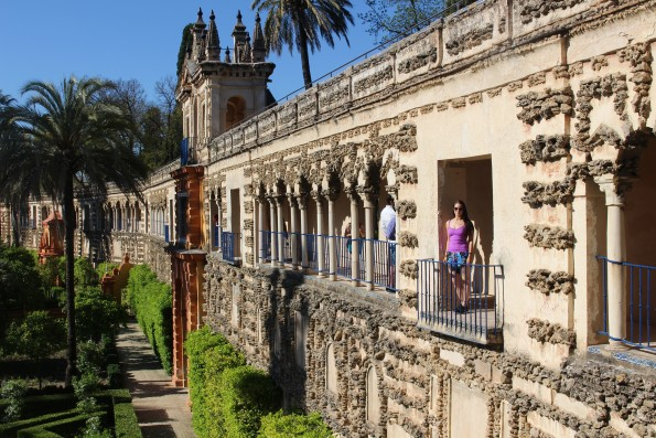The Royal Alcazar palace and gardens, Seville, Spain