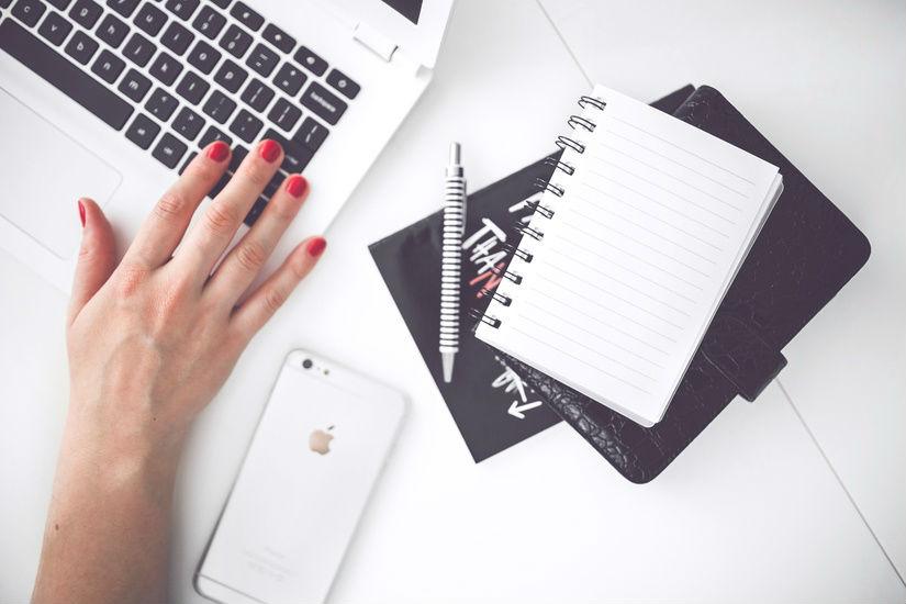 Career girl desk
