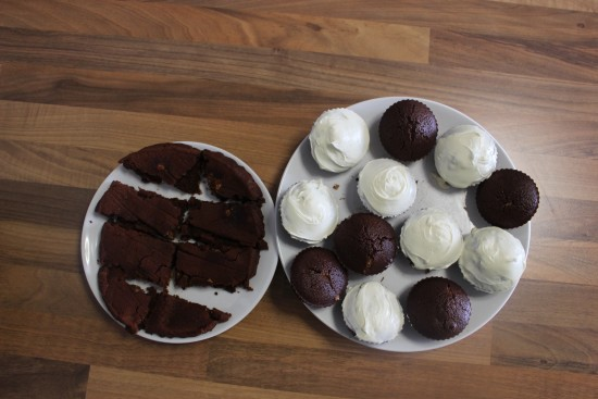 Cocoa Almond Butter Cupcakes and Brownies