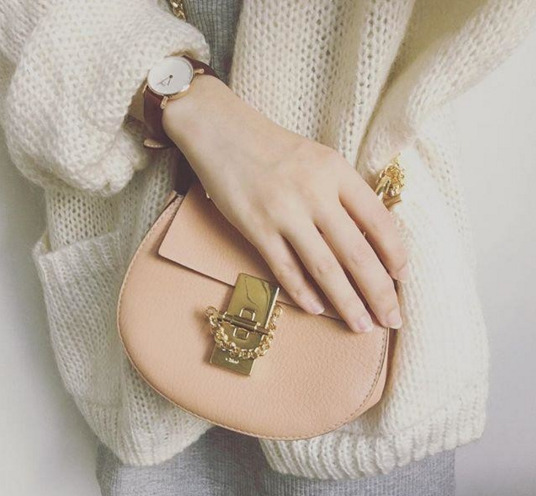 Daniel Wellington Classic St Mawes Lady rose gold-plated and brown leather strap watch