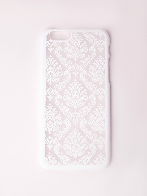 Flock print iphone 6 case white