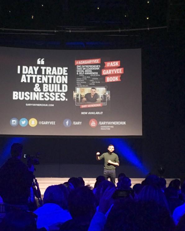 Gary Vaynerchuk speaking at #GaryVeeDublin event in Dublin.