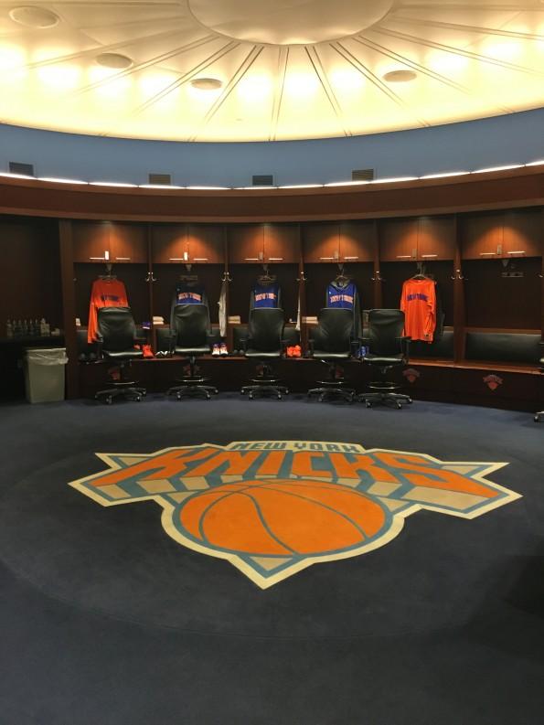 New york knicks changing room