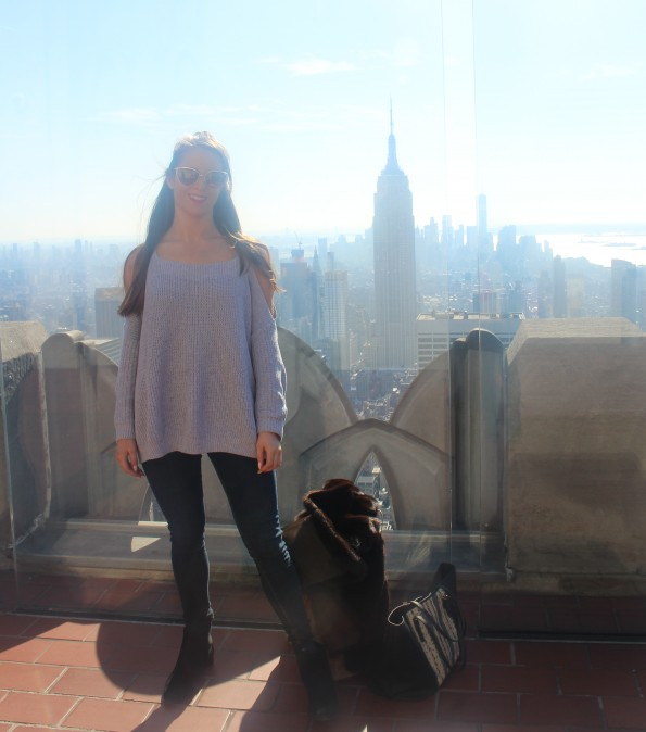 Sophie top of the rock