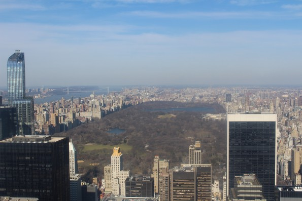 Top of the rock central park view