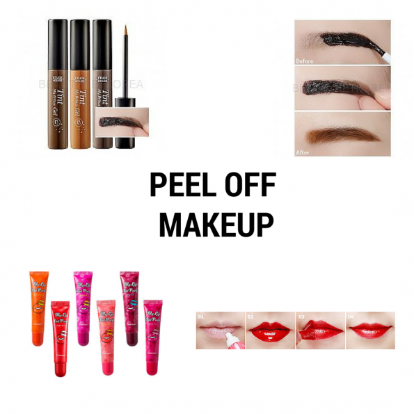 Peel off makeup