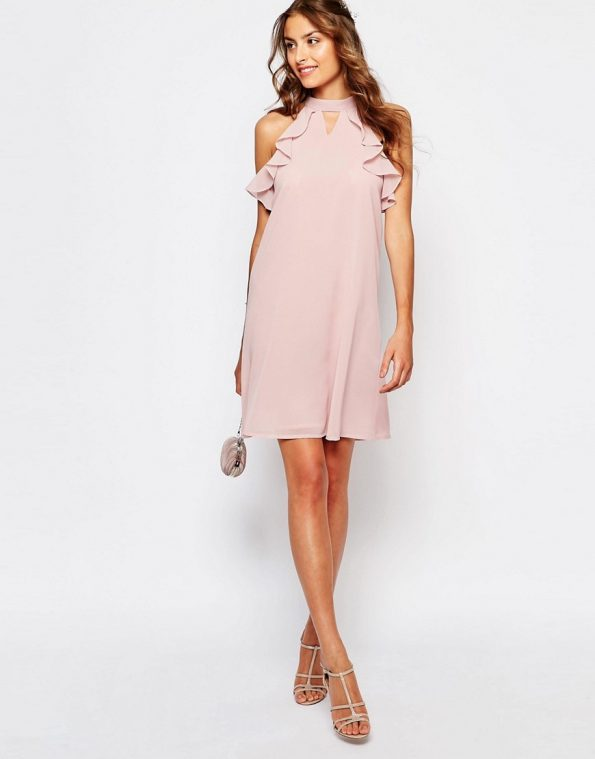 ASOS True Decadence Tall Frill Sleeve Shift occasion Dress