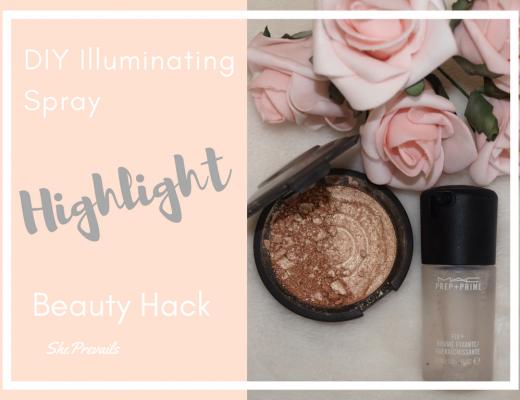 DIY Illuminating Spray: Highlight Beauty Hack