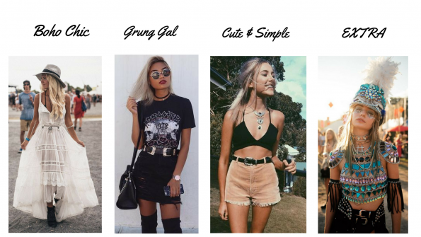 Four types of festival styles