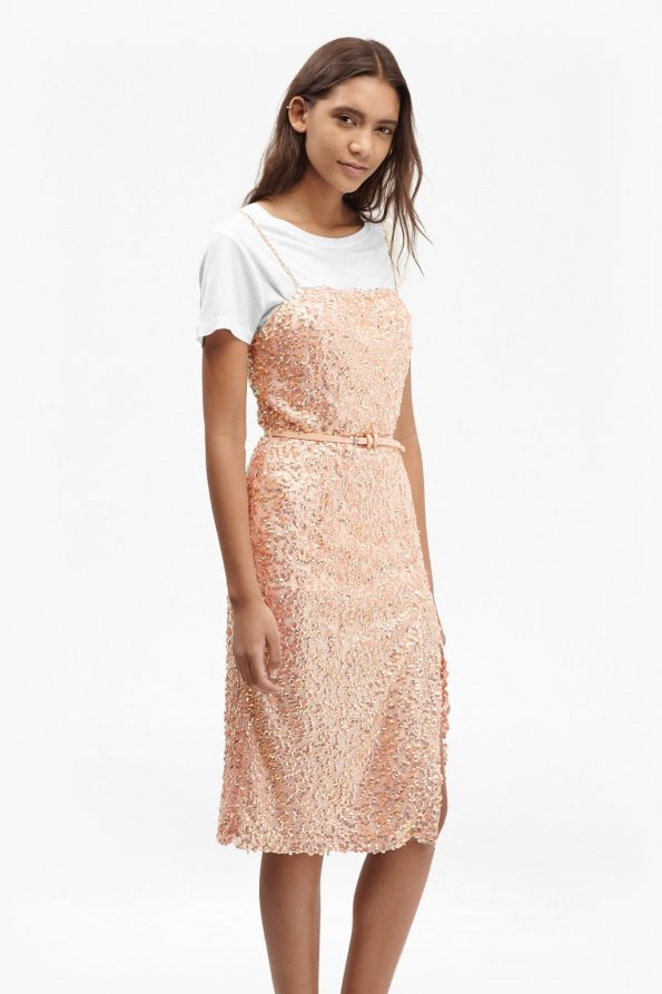 French Connection Celia sequinned strappy occasion dress
