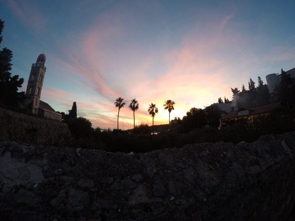 Sunset over Hvar
