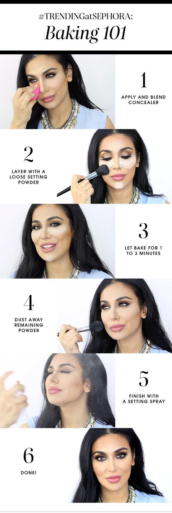 Makeup baking powder Pinterest Sephora