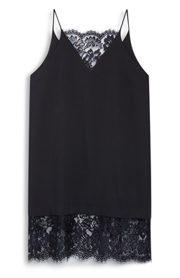 Primark Black Lace Trim Cami Dress