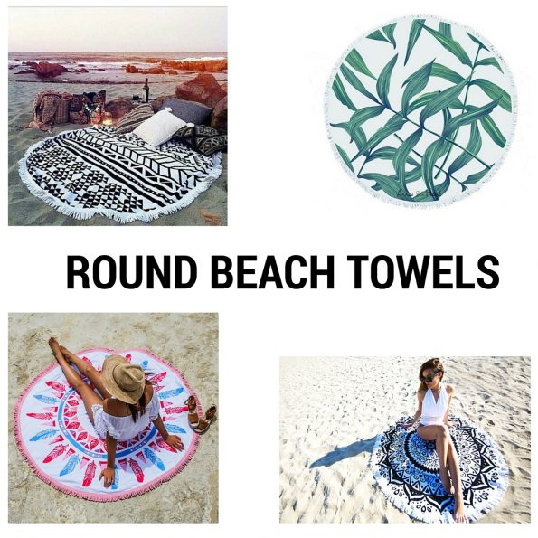 Round beach towels trend She Prevails