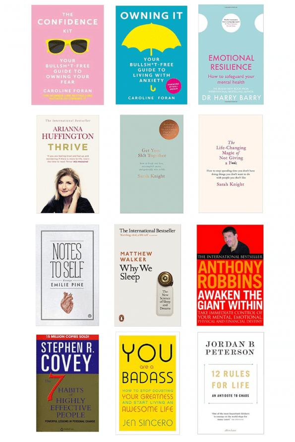 Self Help book list ShePrevails